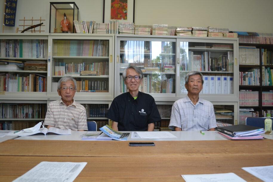 会長 今泉 研吾さん(79) 副会長 夏目 道弘さん(66) 事務局長 清水 敏一さん(73)